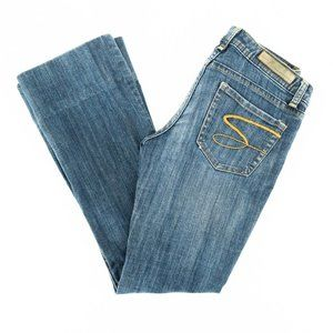 Seven7 Jeans Classic Flare Embroidered Mid 29x28